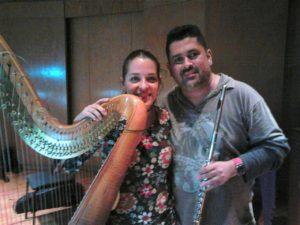 A Harpista Anna de Rogatis e James Strauss
